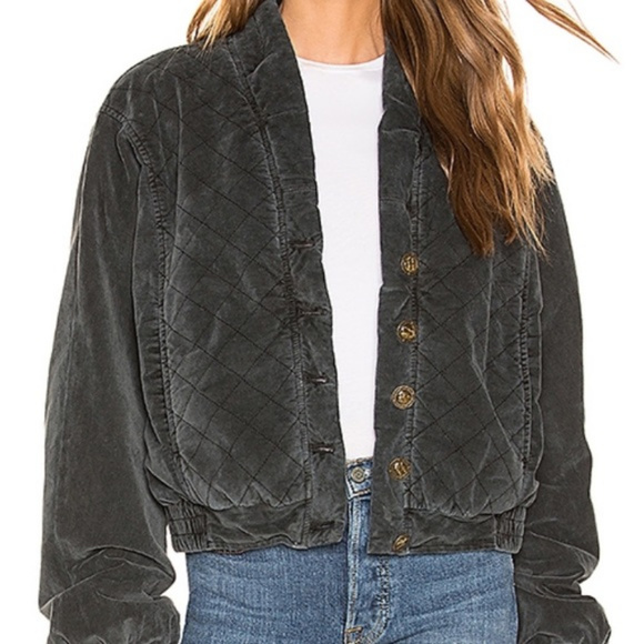 Free People Jackets & Blazers - Free People Main Squeeze Quilted Bomber Jacket S M